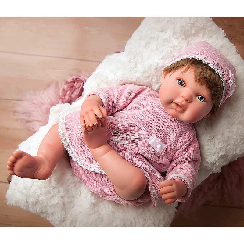 Boneca Reborn Carolina - 45cms c/almofada