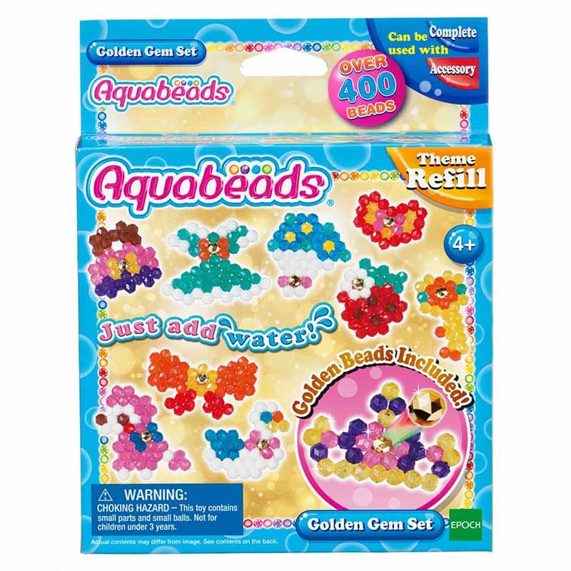 Aquabeads Conjunto Jóias Douradas