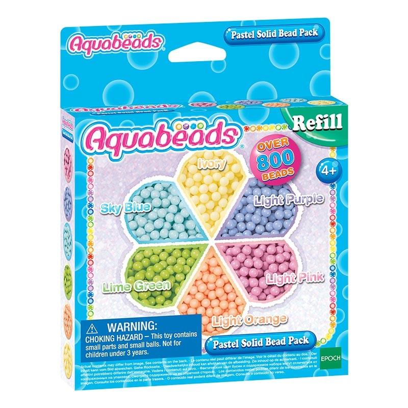 Aquabeads pack de contas pastel