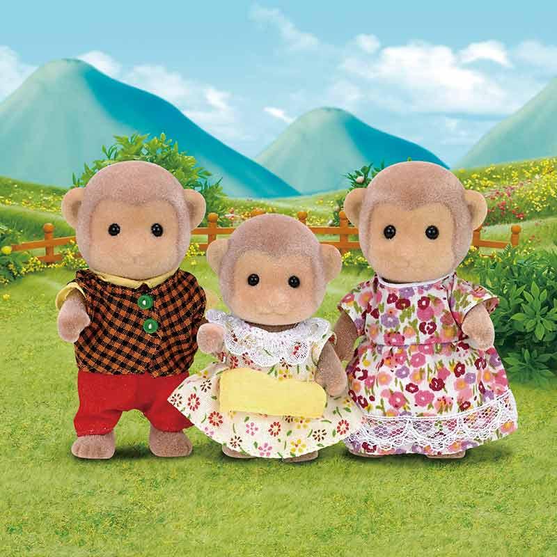 Sylvanian Families família macacos
