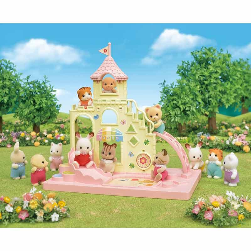 Sylvanian families parque infantil castelo bebés