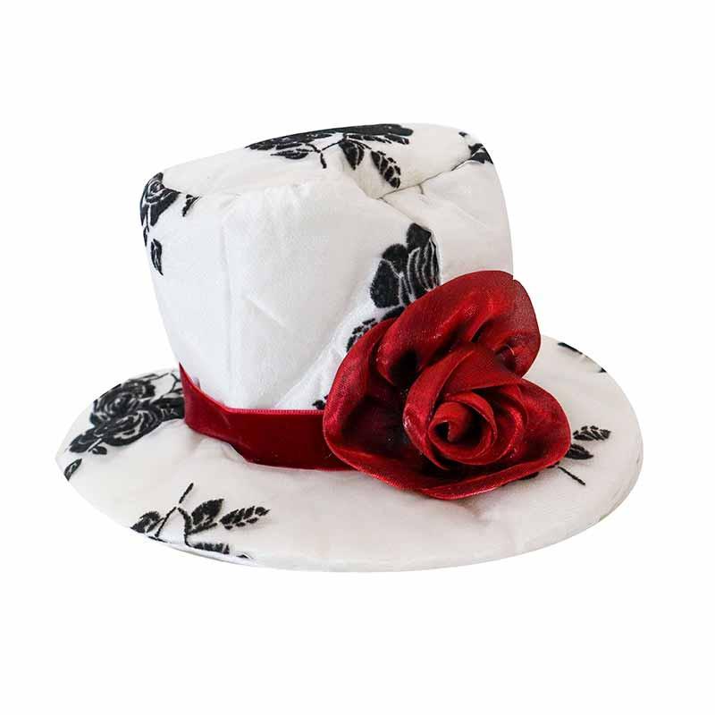Mini branco e chapéu preto