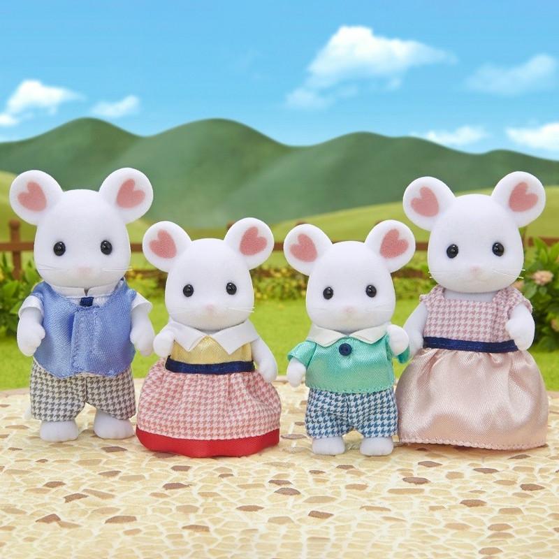 Sylvanian Families família rato Marshmallow