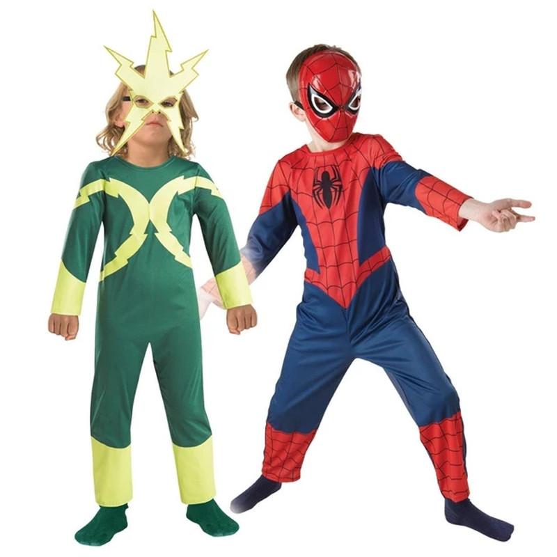 Disfarce Spiderman-Electro 2x1 inf