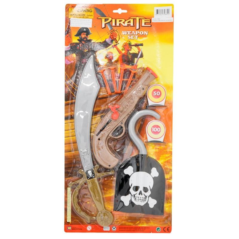 sabre pirata com acessórios