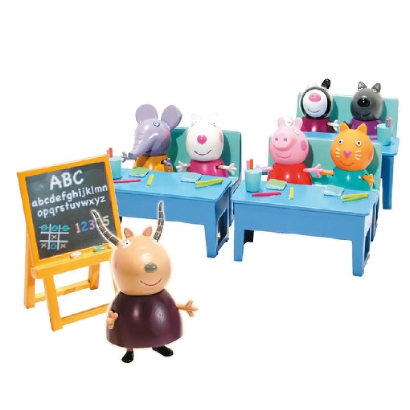 Peppa Pig pack com 7 figuras vamos à escola