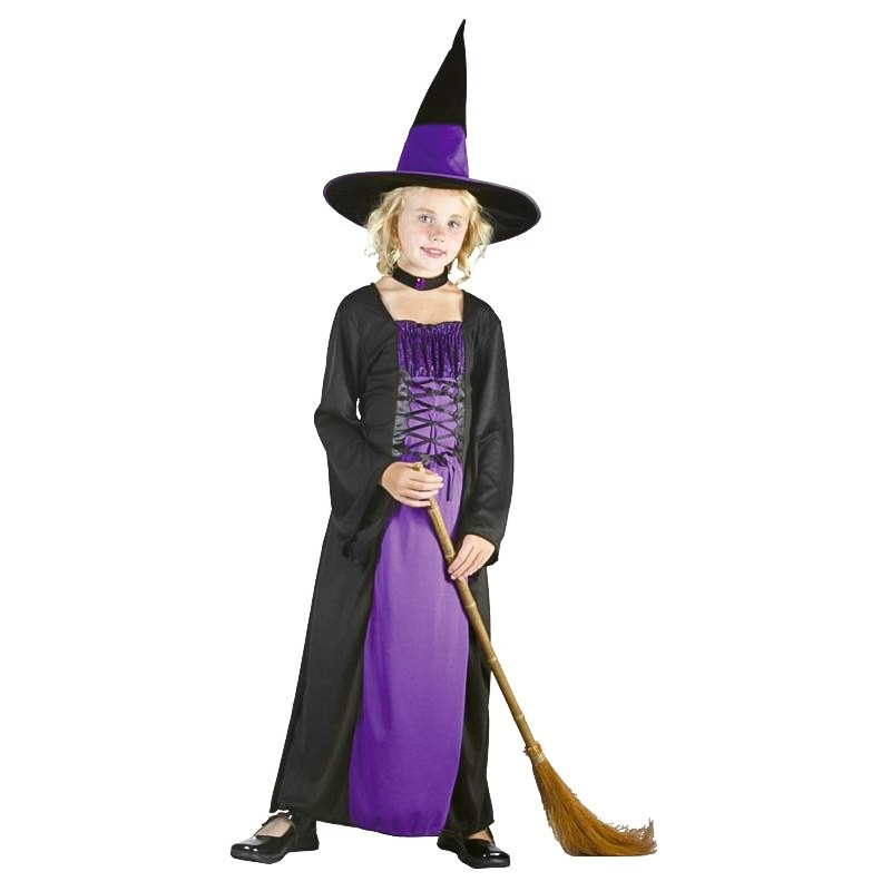 Disfarce bruxa infantil