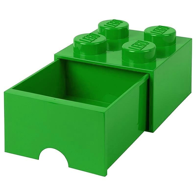 Caixa de armazenamento LEGO verde