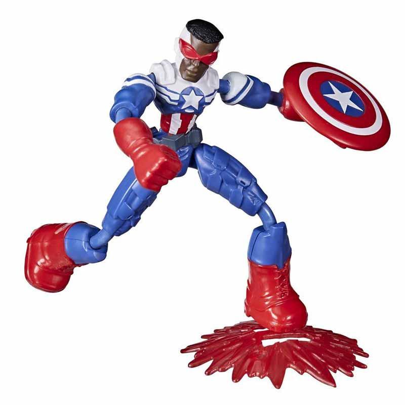 Avengers bend and flex figura Capitão América