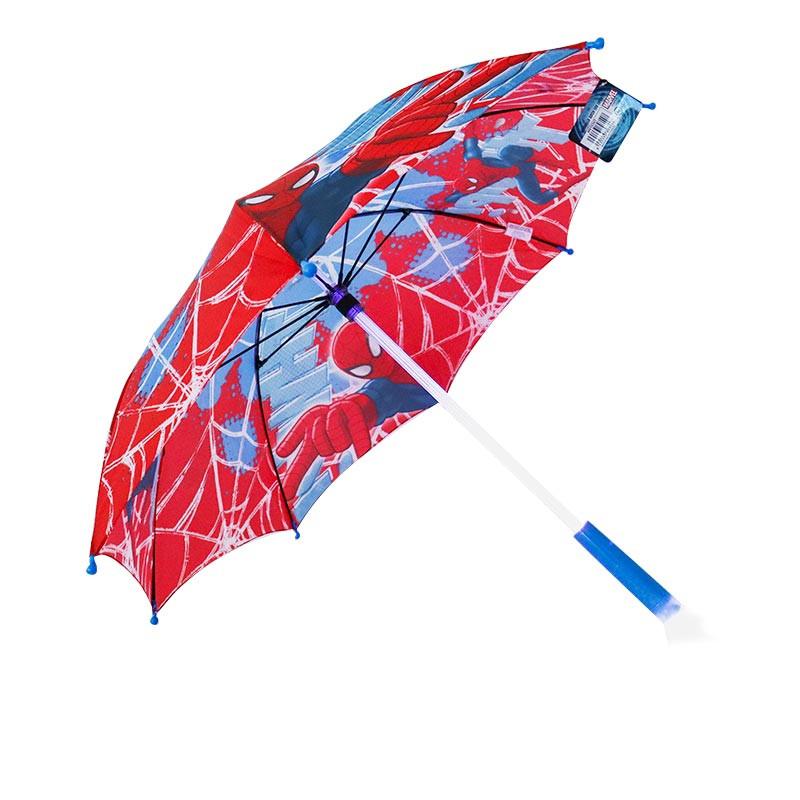 Guarda-chuva auto com luz led Spiderman 46 cm