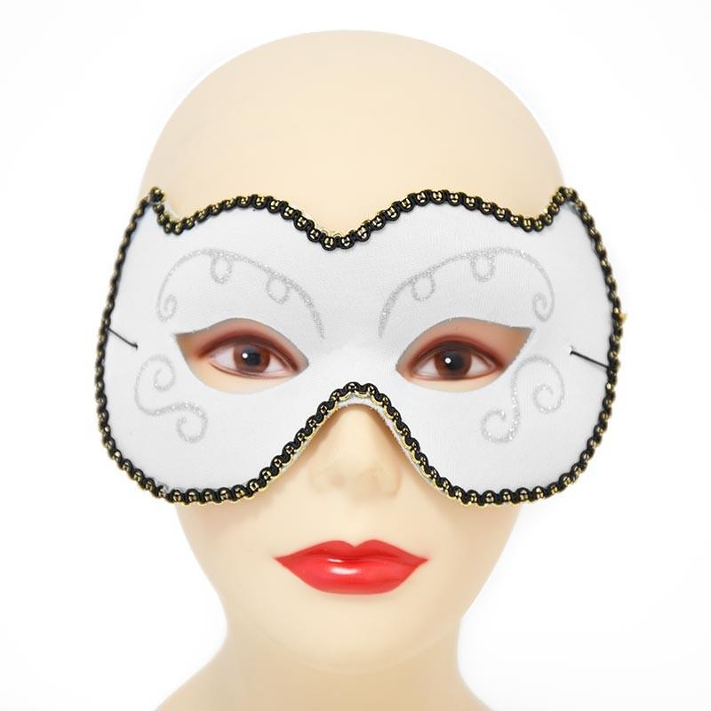 Mascara veneziana branca Carnaval