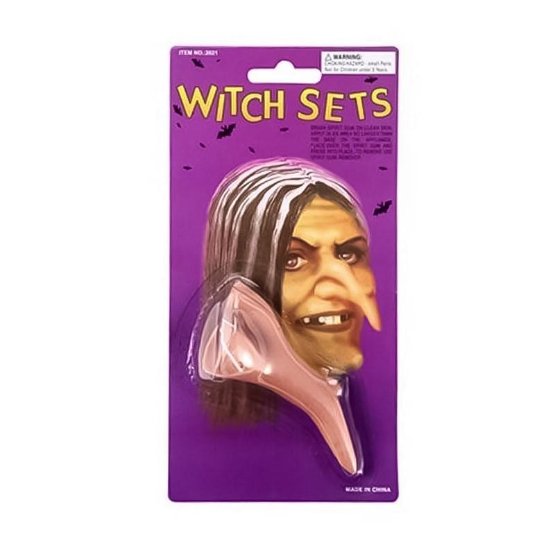 Nariz de bruxa Halloween