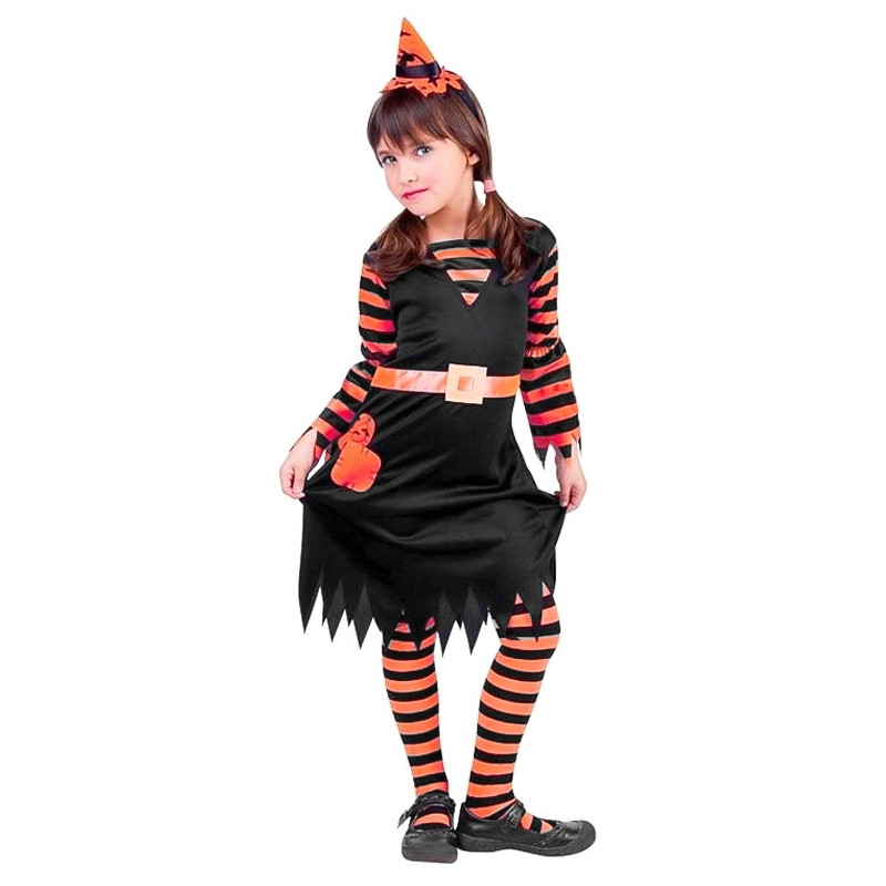 Disfarce Witchy Patch Laranja Infantil