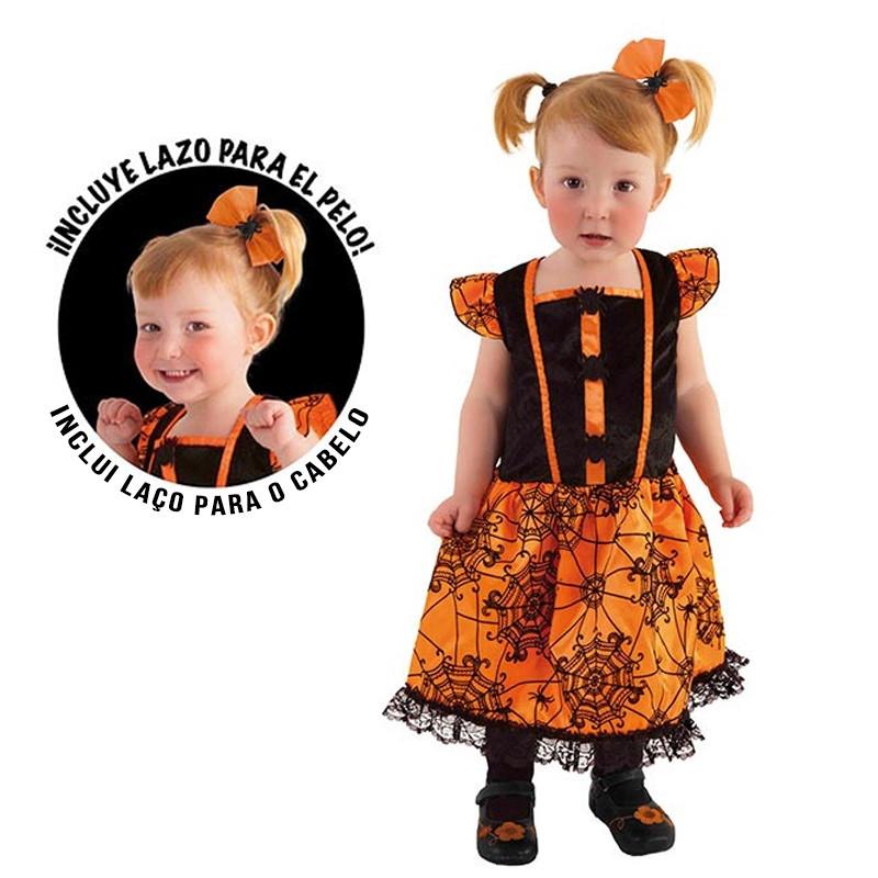 Disfarce Miss aranhinha bebé Halloween