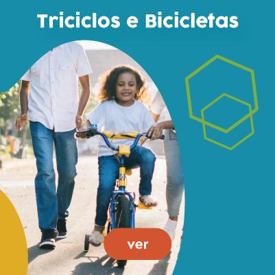 TRICICLOS, BICICLETAS E COMPLEMENTOS